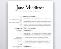 Clean Resume Template Professional Resume Template 5 Pages Clean Resume Template