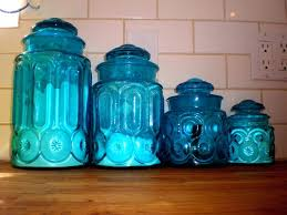cobalt blue kitchen canisters blue kitchen canisters set of 3 foxy glass kitchen canister set