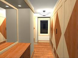 spectacular built in wardrobe with square wall mirror vanities