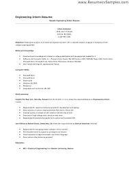 sample internship resume for college students internship resume