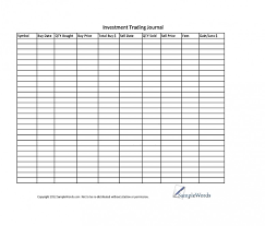 Options Trading Journal Spreadsheet by Investment Stock Trading Journal Spreadsheet