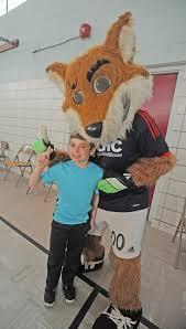 photos new england revs mascot visits bennett the