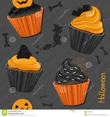 Halloween Cupcakes Ghost Halloween Cupcakes Seamless Pattern Stock Vector Image 44529866