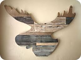 Moose Head Decor Reclaimed Wood Moose Head Hometalk