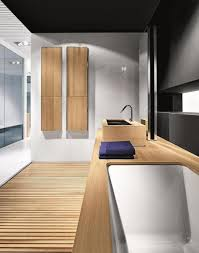 best matching bathrooms with wood design ideas wowfyy adding rugs wall mural and vegetation is a superb solution to get a completely extraordinary interior green rug leaves wall mural and greeneries will