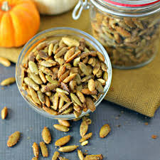 Toasting Pumpkin Seeds Cinnamon Sugar by Sweet And Spicy Pumpkin Seeds Culinary Envy