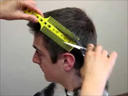 cutting boy hair with scissors how to cut men s boy s hair short layer combpal scissor clipper