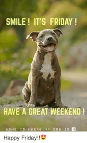 Weekend Dog Meme - smile it s friday have a great weekend home is where my dog is f
