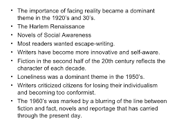 literature themes in the 1920s characteristics of 20th century american novel