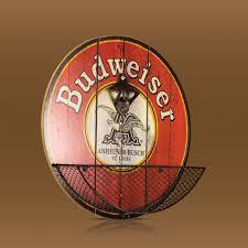 Beer Home Decor Crystal Art Gallery Budweiser Beer Bottle Opener Cap Catcher Decor