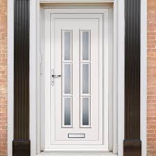 Shaker Style Exterior Doors by Exterior Lyon Six Upvc Door External White Pvc Doors