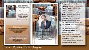 templates for funeral program funeral program cascade template