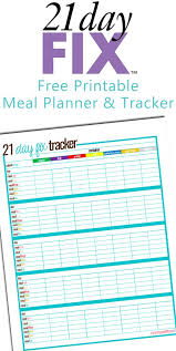 printable meal planner with calorie counter free printable 21 day fix meal tracker my crazy good life