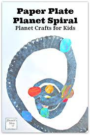 planet crafts for kids paper plate spiral with paper towel dabbed