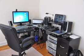Gamer Computer Desks Gaming Desk Setup Ideas Black Gaming Computer Desk