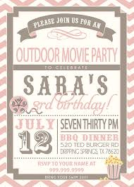 Backyard Birthday Party Invitations by Movie Party Outdoor Movie Invitation By Sldesignteam On Etsy