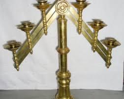 7 branch menorah for sale temple menorah etsy