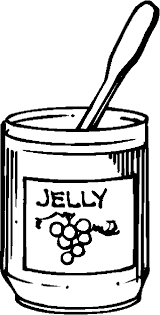 jelly jam coloring page sketch coloring page