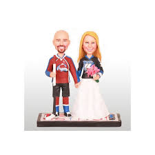 personalised funny bride and groom ice hockey wedding cake toppers