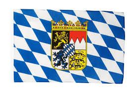 Us Flag 1860 Flagge Deutschland Bayern Mit Wappen 30 X 45 Cm Flaggenfritze De