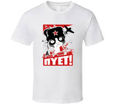 Meme T Shirts - cat russian nope nyet meme t shirt