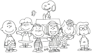 charlie brown thanksgiving coloring pages free eson me