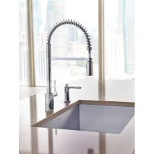 pre rinse kitchen faucet moen 592 align one handle pre rinse pulldown kitchen faucet