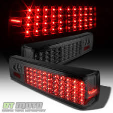 mustang led tail lights smoked 1987 1993 ford mustang full led tail lights ls aftermarket