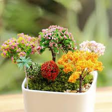 artificial tree miniature garden home houses decoration mini