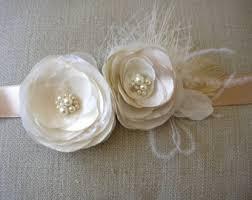 ivory bridal sash etsy