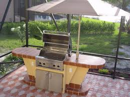 rustic outdoor kitchen ideas metal chrome dining table white tile