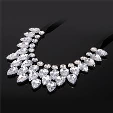 big necklace images Maxi necklace austrian fancy stone water drop crystal pendant jpg