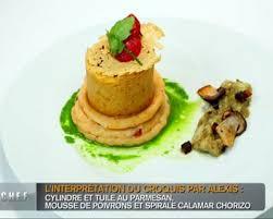 une mousseline en cuisine recette mousseline d encornets dans un sablé au parmesan coulis de