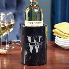 wine gifts for personalized marble wine chiller