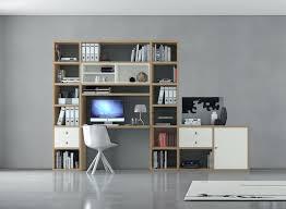 Schreibtisch Mit Regal Bürowand Sekretär Mit Schreibtisch Eiche Weiß