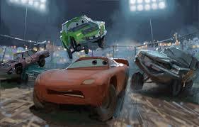 disney pixar cars 3 concept art demolition derby disney