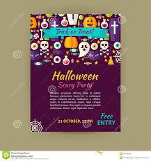 halloween holiday vector template banner flyer modern flat style