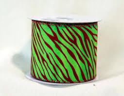 ribbon cheap animal print ribbon apple green 1 1 2 inch x 10 yards