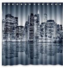 Manhattan Curtains New York Manhattan Design Polyester Fabric Shower Curtain