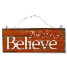 believe home decor decorative christmas wood wall sign plaque inchbelieve inch burnt