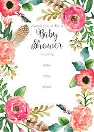 printable baby shower invitations free printable floral shower invitation baby shower
