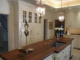 pretty brown color butcher block kitchen countertops with