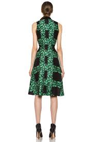 rodarte ivy trellis print sleeveless dress in black u0026 green fwrd