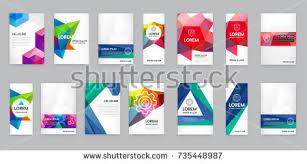 set visual identity letter logo elements stock vector 533759650