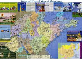 Stone Mountain Map Detailed Shandong Travel Map Best Shandong Map China