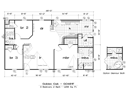 New Homes Floor Plans Double Wide Open Floor Plans 2 Bedroom Trailer Floor Plans Trailer