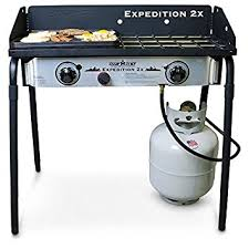Cooktop With Griddle And Grill Amazon Com Camp Chef Expedition 2 Stove With Bonus Cast Iron