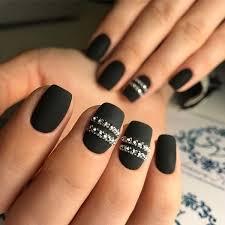 Rhinestone Nail Design Ideas Best 25 Black Nail Designs Ideas On Pinterest Black Nail Black