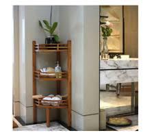 Teak Bathroom Storage Solid Teak Wood 3 Tier Corner Shower Caddy Bathroom Storage Shelf