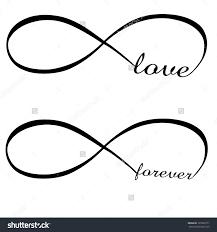 infinity love forever symbol stok vektör illüstrasyonu 125690171